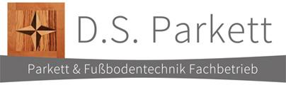 DS Parkett - Parkett & Fußbodentechnik Fachbetrieb. Dietrich Sudheimer. B3 Center Denzlingen. Logo